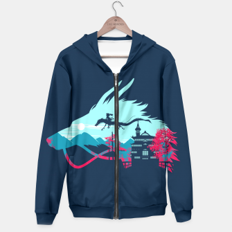 Thumbnail image of Traveling in my dragon Sudadera con capucha, Live Heroes