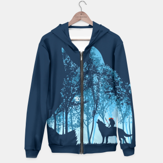 Wolf forest Sudadera con capucha thumbnail image