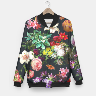 Thumbnail image of Flower pattern Baseball Jacket, Live Heroes