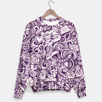 Beautiful Love Doodle Pattern Sweatshirt obraz miniatury