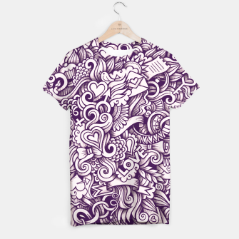 Beautiful Love Doodle Pattern T-Shirt obraz miniatury