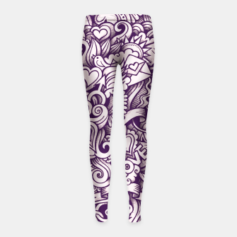 Beautiful Love Doodle Pattern Kinder-Leggins obraz miniatury