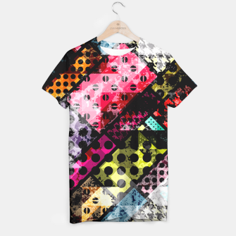 Miniatur Coloful Abstract Design  T-Shirt, Live Heroes