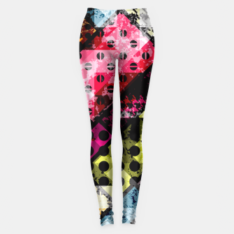 Miniatur Coloful Abstract Design  Leggings, Live Heroes