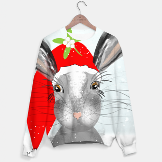 Thumbnail image of Cute Christmas Whimsy Bunny Rabbit Sweater, Live Heroes