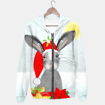 Thumbnail image of Cute Christmas Whimsy Bunny Rabbit Hoodie, Live Heroes