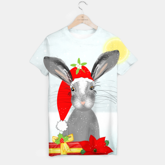 Thumbnail image of Cute Christmas Whimsy Bunny Rabbit T-shirt, Live Heroes