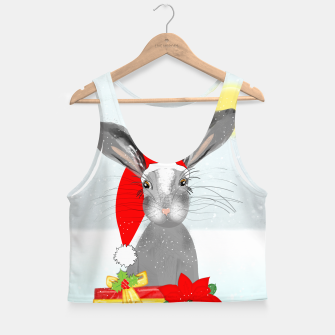 Thumbnail image of Cute Christmas Whimsy Bunny Rabbit Crop Top, Live Heroes