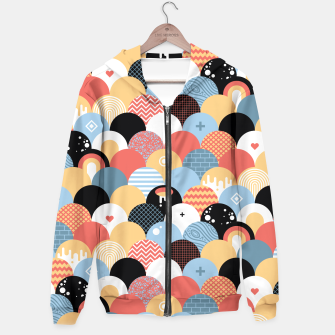 Miniatur Funny Coloful Abstract Design Kapuzenpullover, Live Heroes
