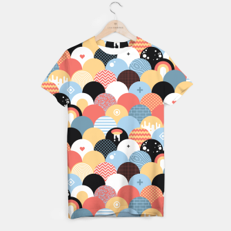 Miniatur Funny Coloful Abstract Design T-Shirt, Live Heroes