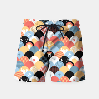 Miniatur Funny Coloful Abstract Design Badeshorts, Live Heroes