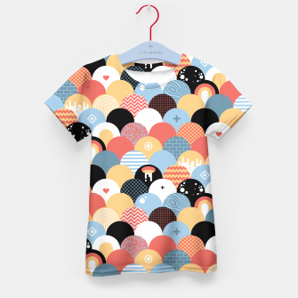 Miniatur Funny Coloful Abstract Design T-Shirt für Kinder, Live Heroes