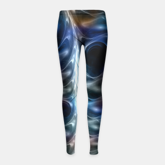 Thumbnail image of Gothic Spiral Shells CLR Girl's Leggings, Live Heroes