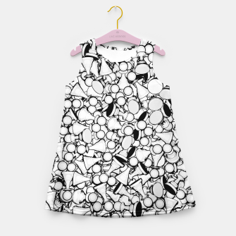 Thumbnail image of Pawn Storm B&W Girl's Summer Dress, Live Heroes