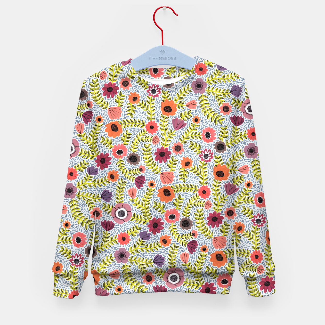 Image of Floral by Veronique de Jong Kid's Sweater - Live Heroes