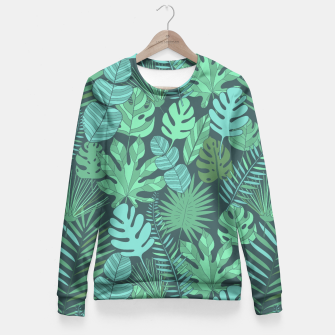 Miniatur Tropical plantation Fitted Waist Sweater, Live Heroes