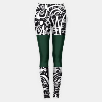 Thumbnail image of Chalk Board Halfway Leggings, Live Heroes