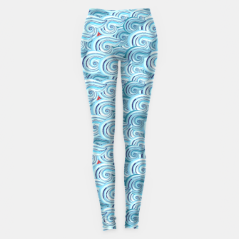 Miniaturka Bright seamless pattern with beautiful graphics waves Leggings, Live Heroes