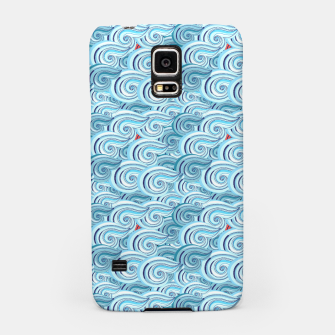 Miniaturka Bright seamless pattern with beautiful graphics waves Samsung Case, Live Heroes