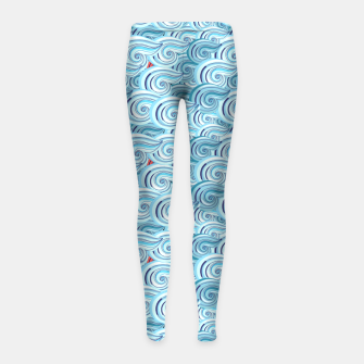 Miniaturka Bright seamless pattern with beautiful graphics waves Girl's Leggings, Live Heroes