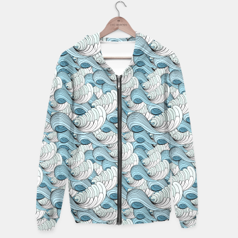 Miniaturka Bright seamless pattern with beautiful graphics waves Hoodie, Live Heroes
