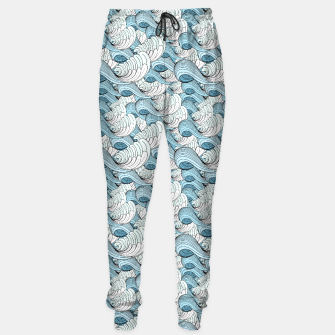 Miniaturka Bright seamless pattern with beautiful graphics waves Sweatpants, Live Heroes
