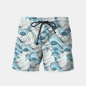 Miniaturka Bright seamless pattern with beautiful graphics waves Swim Shorts, Live Heroes
