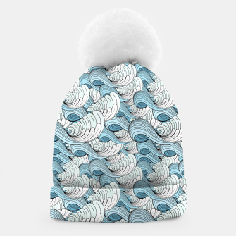 Miniaturka Bright seamless pattern with beautiful graphics waves Beanie, Live Heroes