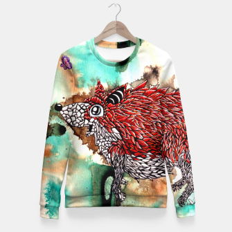 Thumbnail image of Fox and Butterfly Fitted Waist Sweater, Live Heroes