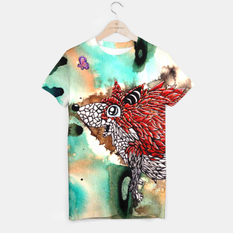Thumbnail image of Fox and Butterfly T-shirt, Live Heroes