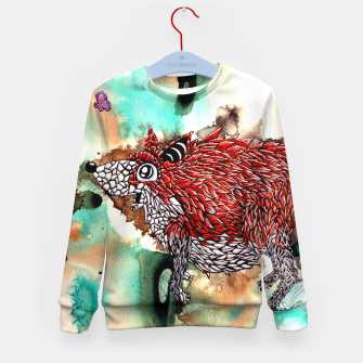 Thumbnail image of Fox and Butterfly Kid's Sweater, Live Heroes