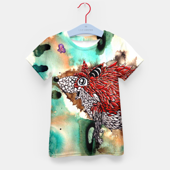 Thumbnail image of Fox and Butterfly Kid's T-shirt, Live Heroes