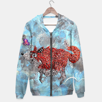 Thumbnail image of Fox and Butterfly Hoodie, Live Heroes