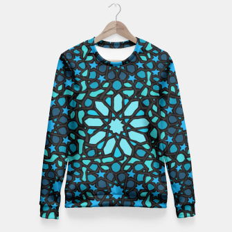 Miniatur Intense Turquoise Fitted Waist Sweater, Live Heroes
