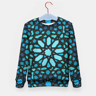 Miniatur Intense Turquoise Kid's Sweater, Live Heroes