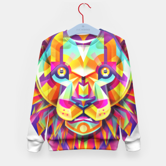 Miniature de image de Cool colorful lion Kid's Sweater, Live Heroes