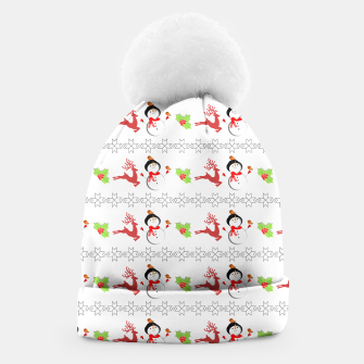 Thumbnail image of Christmas Ugly Sweater Style Xmas Patterned Beanie, Live Heroes