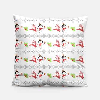 Thumbnail image of Christmas Ugly Sweater Style Xmas Patterned Pillow, Live Heroes