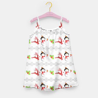 Thumbnail image of Christmas Ugly Sweater Style Xmas Patterned Girl's Dress, Live Heroes