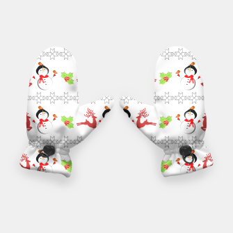 Thumbnail image of Christmas Ugly Sweater Style Xmas Patterned Gloves, Live Heroes