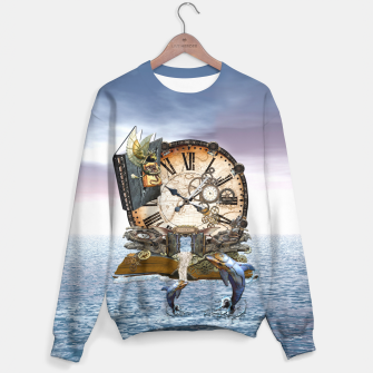 Thumbnail image of Steampunk Dragon Story Books Sweater, Live Heroes