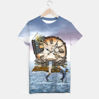 Thumbnail image of Steampunk Dragon Story Books T-shirt, Live Heroes