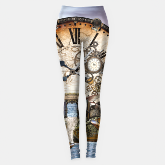 Thumbnail image of Steampunk Dragon Story Books Leggings, Live Heroes