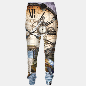 Thumbnail image of Steampunk Dragon Story Books Sweatpants, Live Heroes