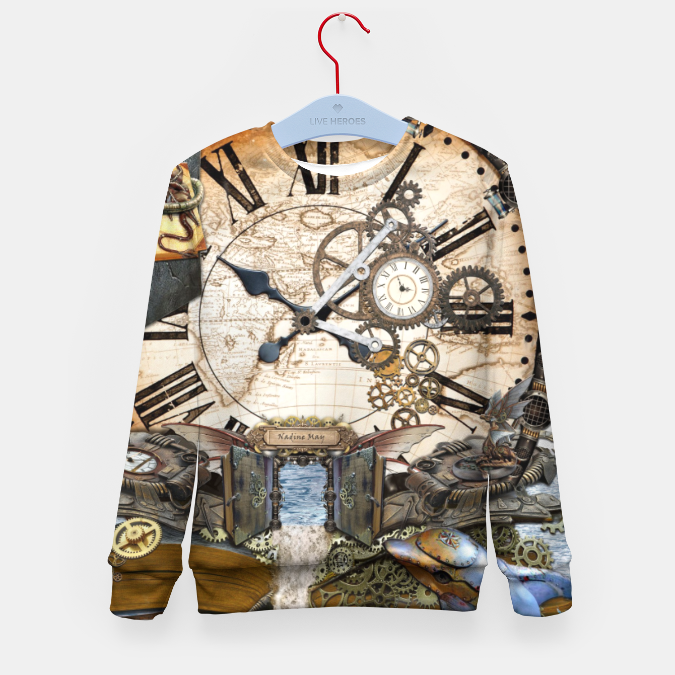 Image of Steampunk Dragon Story Books Kid's Sweater - Live Heroes