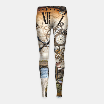 Thumbnail image of Steampunk Dragon Story Books Girl's Leggings, Live Heroes