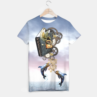 Thumbnail image of Steampunk ocean Story book T-shirt, Live Heroes