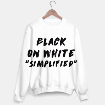 Thumbnail image of Black on White Sweater, Live Heroes