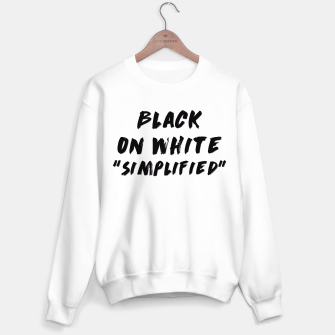 Thumbnail image of Black on White Sweater regular, Live Heroes
