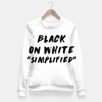 Thumbnail image of Black on White Fitted Waist Sweater, Live Heroes
